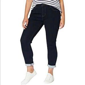 Kenzie Plus High Rise Dark Wash Straight Jeans